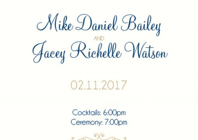 Jacey Bailey - Wedding Invites