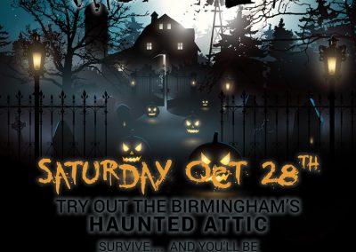 Birmingham's Vodka & Ale House - Halloween Poster