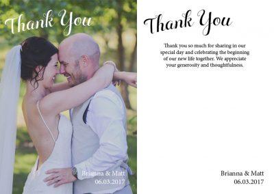 Brianna Kahovec - Thank You Cards