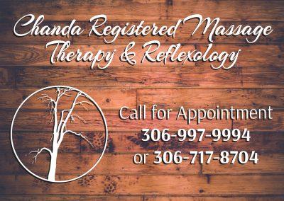Chanda Massage - Lawn Sign