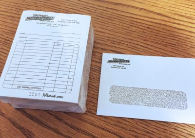 Discovery Motorsports - Receipts + Envelopes