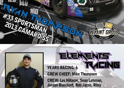 Ryan Thompson - Driver Profile Cards