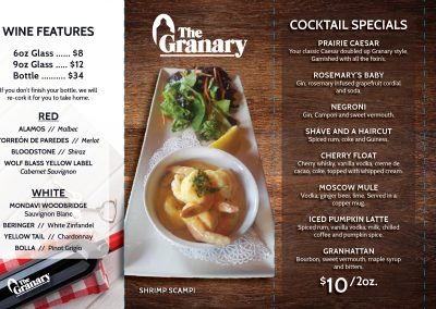 The Granary - Tent Cards 2