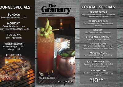 The Granary - Tent Cards 3