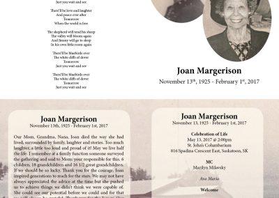 Pam Watson - Funeral Card