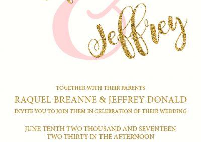 Raquel Caffet - Wedding Invites