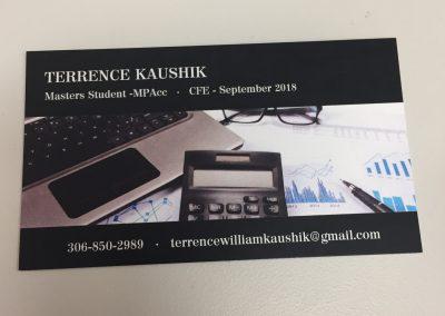 Terrence Kaushik - Business Cards