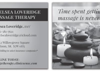 Chelsea Loveridge Massage - Flyer