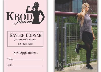 KBod Fitness - Business Cards
